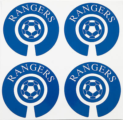 ACCLAIM Vinyl Bowls Stickers Set Of 4 Complete Printed Rangers Blue White