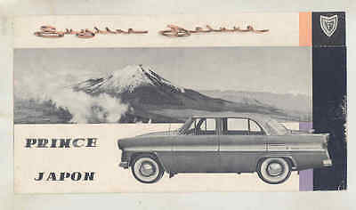 1957 Prince Skyline Deluxe Brochure French wu6291