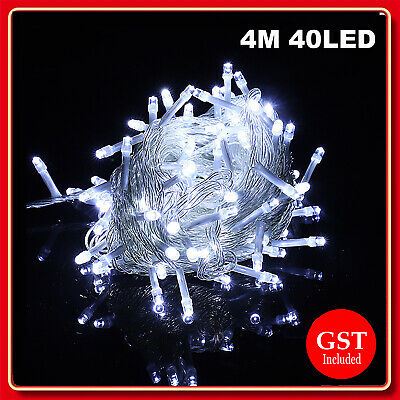 New 4M 40LED Battery Operated String Fairy Light Bright White Party Christmas De