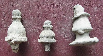 Authentic Ancient > ROMAN to Medieval - Lot of 3 Bronze FINIAL Artifacts 12680
