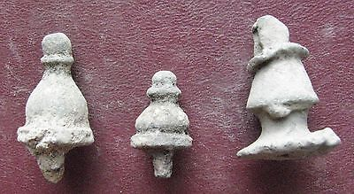 Authentic Ancient   ROMAN to Medieval - Lot of 3 Bronze FINIAL Artifacts 12680