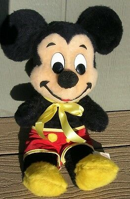 Vintage Mickey Mouse Plush Stuffed Toy by Walt Disney Characters Productions