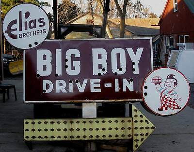 Original Bob's Big Boy Porcelain Restaurant Neon Sign