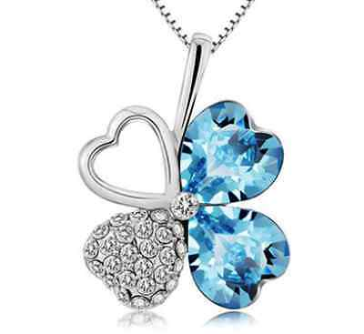 Hot sell 2015 Crystal Flower shape Charm High quality Women necklace jewelry