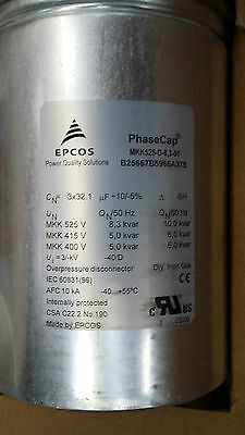 New box of  6 Epcos Power Factor Correction Capacitors  10kvar@60hz