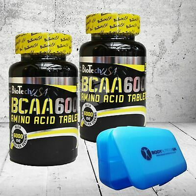 BioTech USA BCAA 6000 Amino Acid Supplement for Muscle Growth 100 Tablets