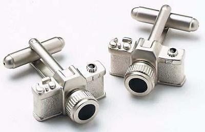 Mens Camera Photographer Cufflinks & Gift Box By Onyx Art