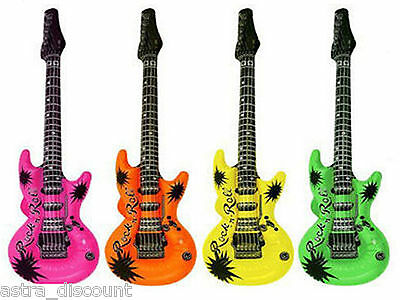 12 x INFLATABLE ROCK AND ROLL AIR GUITARS PARTY FANCY DRESS ACCESSORY STAG HEN