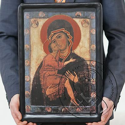 Russian Orthodox Icon The Mother Of God Of Tenderness Virgin Mary Of Belozersk