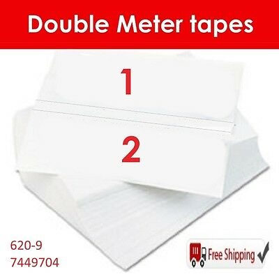 150 DOUBLE POSTAGE METER TAPES for PITNEY BOWES / NEOPOST / SECAP / FP (STA6209)