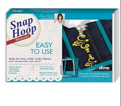 Dime Snap Embroidery Hoop Monster Quick Snap w/adapter 11.75 X7.875 PR600,PR1000