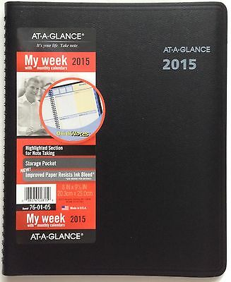 AT-A-GLANCE 2015 #76-01-05 WEEKLY/MONTHLY APPOINTMENT PLANNER W/QUICK NOTES