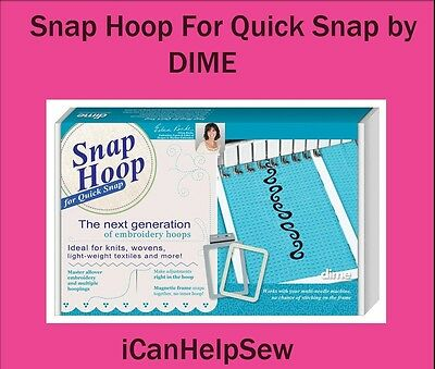 """Dime Snap Embroidery Hoop For Quick Snap 11.75""""x7.875""""BMP Series PR600 1000/1050"""