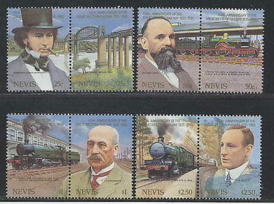 Nevis Trains stamps