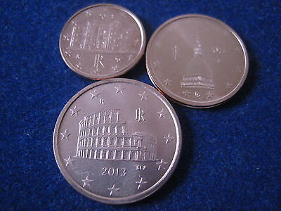 Mds Italien 1, 2, 5 Cent 2013