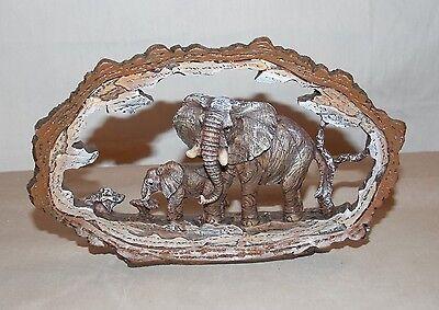 """New African Elephant Statue Decoration Wildlife Collectible Safari Frame 7"""""""