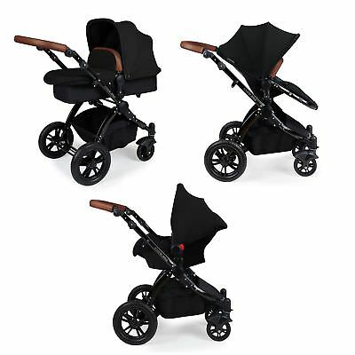 Ickle Bubba Stomp v2 3-in-1 Baby Travel System - Black on Black Combination