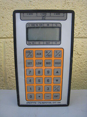 Promac Controls Model DHT550 DHT-550 Calibrator Used Free Shipping