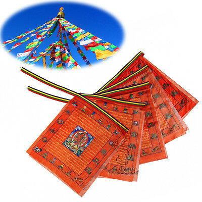 Tibetan Buddhist Prayer Flag 110 Inch Long - Buddhist Kurukulla Buddha Scripture