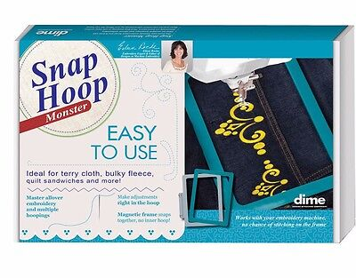 """Snap Monster Hoop 8"""" X 8"""" Brother & Baby Lock Magnetic LM2 NEW!!!"""