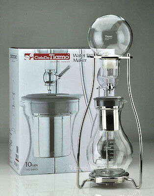 Tiamo HG2605 Cold Drip Coffee Maker 10 Cups Heat Resistant Glass Metal Frame