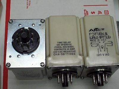 Potter & Brumfield / Amf Time Delay On Relay 120Vac 10 Amp Cka-38-71022