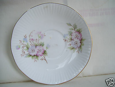 Vintage ROYAL HERITAGE Bone China England  Floral Pattern Saucer Only No Cup