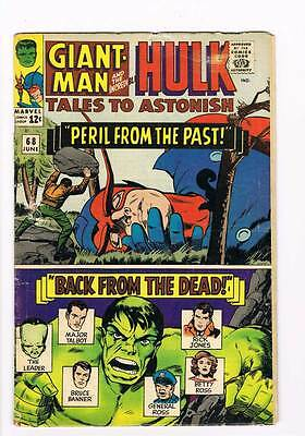 Tales to Astonish # 68  Peril From the Past ! grade 4.5 scarce hot book !!