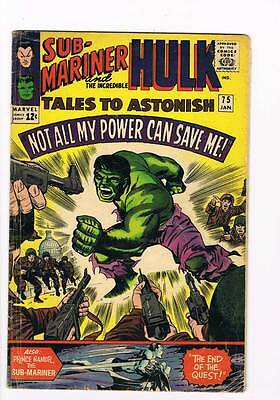 Tales to Astonish # 75  My Power Cannot Save Me !  grade 4.5 scarce hot book !!