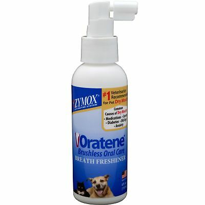 Oratene Pet Breath Freshner Helps Remove Plaque & Bacteria For Dogs & Cats 4oz
