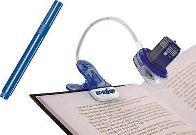 DOCTOR WHO TARDIS Clip on Booklight with Magic UV Pen NEW night reading light dr
