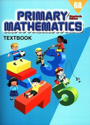 Primary Mathematics Textbook 6A (Standard Edition) - FREE SHIPPING ! ! !