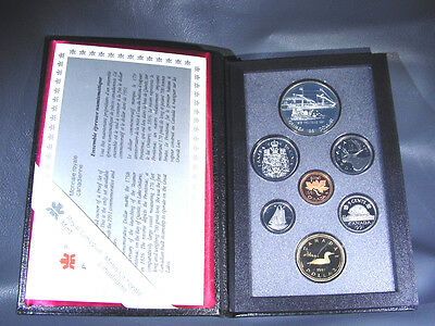 1991 Canada Double Dollar Proof Set Silver Steam Ship Frontenac Coin  KM# PS16