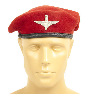 Original British WWII type Parachute Beret and Wings Badge- Size 7 (56 cm)