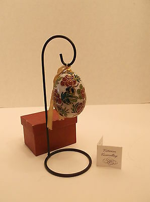 4 Inches Tall Nyco Victorian Enameling Over Copper Egg Ornament