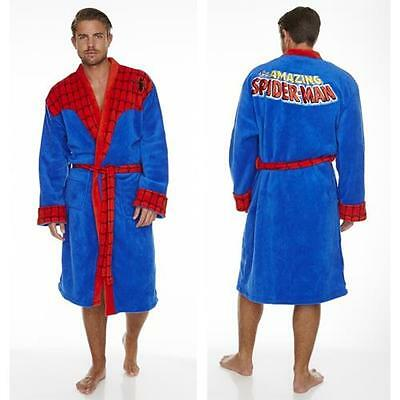 Spiderman: Retro Outfit Fleece Bathrobe Dressing Gown - New & Official DC Comics