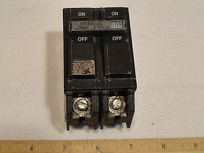 GE 50A AMP CIRCUIT BREAKER 2-POLE HACR Internal Common Trip 120/240V THQL2150