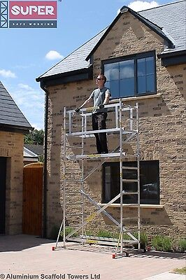 SUPER DIY 4M (2 in ONE) Aluminium Scaffold Tower/Towers Model S, by Loyal