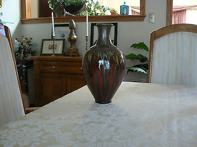 Beautiful Vintage Chinese Unusual Designed Painted Vase Made in China