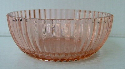 """Queen Mary Pattern Pink Depression Glass  4 1/2"""" Berry Bowl Anchor Hocking"""