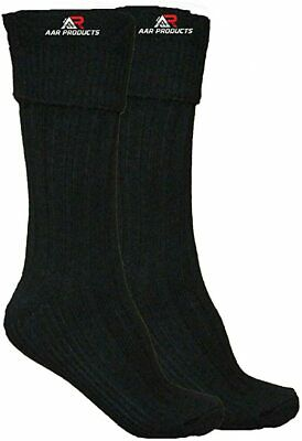 Brand New AAR Scottish Irish Black Kilt Hose Socks Men Size M Kilt Sporrans