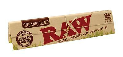 Raw King size Slim Organic Hemp Rolling Papers 32sheets/booklet(1/5/10/25/50)pcs