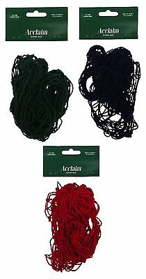 ACCLAIM String Net Bowlers Bright Red Green & Navy Blue Ideal To Carry Bowls