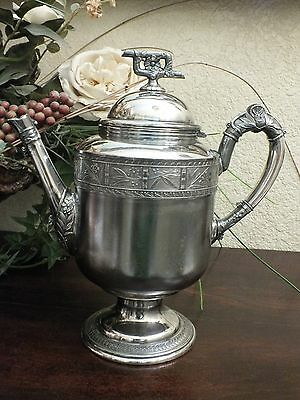 Antique PAIRPOINT MFG CO #308 Aesthetic Quadruple Silver Plate 6 Cup Coffee Pot