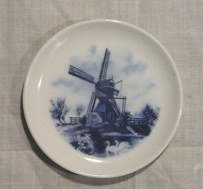 VINTAGE DELFT BLUE MINI TRAY/DISH ~ DUTCH SCENE  HAND PAINTED~HOLLAND