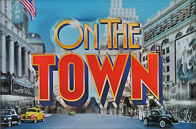 ON THE TOWN BROADWAY SOUVENIR RELIEF MAGNET - MICHAEL RUPERT