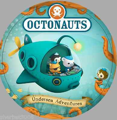 24 x 40mm Round Stickers Octonauts Not Personalised Labels