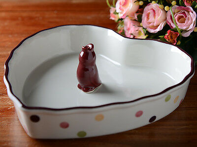 "Katie Alice Highland Fling Heart Shaped 10"" Pie Dish & Steam Funnel"