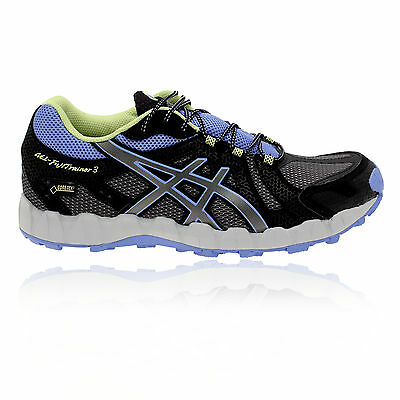 Asics Gel-Fujitrainer 3 GTX Mujer Negro Gris Morado Impermeable Running Zapatos