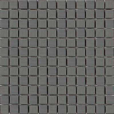 1 SQ M Stainless Steel Brushed Black Mosaic Wall Tiles Kitchen Bathroom MT0038